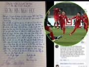 Facebook: Xôn xao lá đơn xin nghỉ học để xem trận U23 Việt Nam - U23 Qatar