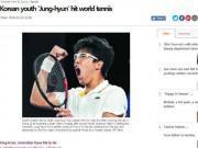 """Cú sốc Australian Open: Hyeon Chung hạ Djokovic, báo Hàn  """" nổ """"  giòn giã"""