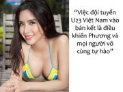 Á hậu Việt có vòng ba 1 mét mê nhất thủ môn Bùi Tiến Dũng