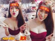 Mai Thỏ, Linh Miu nóng bỏng xuống phố ăn mừng U23 chiến thắng