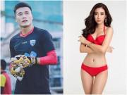 """Hoa hậu Mỹ Linh  """" thả thính """"  nam thần U23 VN và cái kết bất ngờ"""