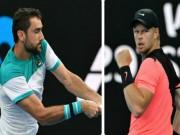 "Cilic - Edmund:  "" Căng não ""  ở set 2 (Bán kết Australian Open)"