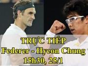 Chi tiết Federer - Hyeon Chung: Rời cuộc chơi chóng vánh (KT)