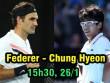 """Bán kết Australian Open 26/1: Federer mơ chung kết, cảnh giác """"niềm tự hào"""" châu Á"""