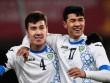 "Cận cảnh vẻ ""đẹp trai lồng lộng"" của 2 cầu thủ U23 Uzbekistan"