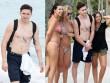 """Con trai Beckham bị chị em """"bao vây"""" khi cởi trần khoe 12 hình xăm"""