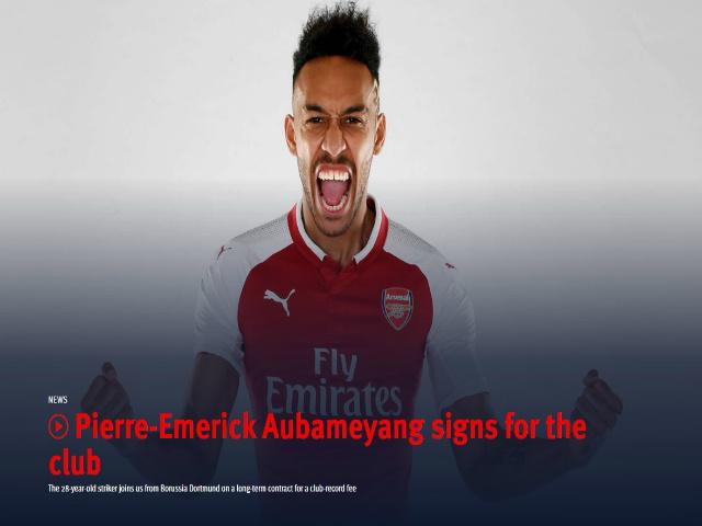 """Arsenal rung chuyển """"bom tấn"""": Aubameyang cập bến Emirates 64 triệu euro"""