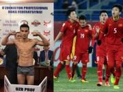 """Kỳ tích boxing:  """" Đòi nợ """"  cho U23, võ sỹ Việt hạ đo ván cao thủ Uzbekistan"""
