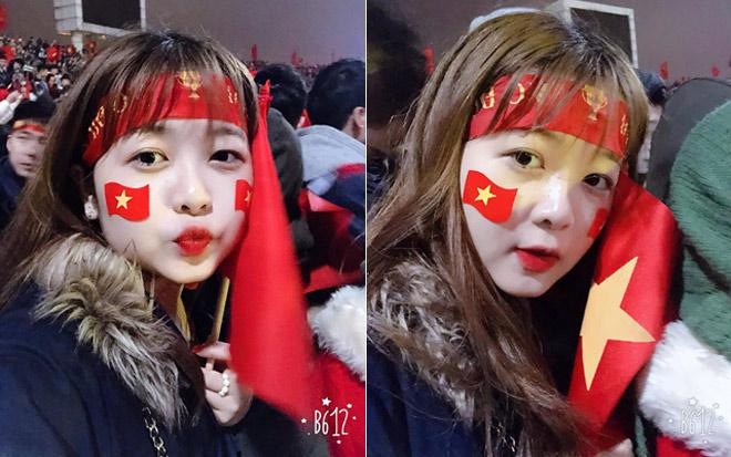 Đi xem U23 Việt Nam đá, cô gái trẻ bất ngờ nổi tiếng vì quá xinh - 4