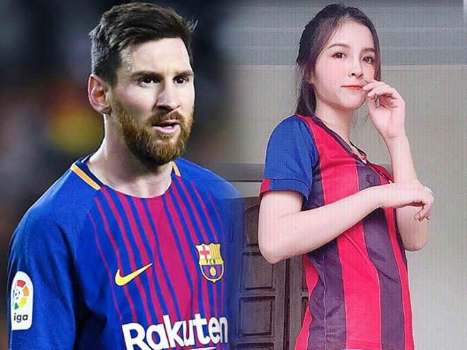 """Dân mạng """"bấn loạn"""" vì nữ sinh Hà Nội đẹp như Tây lại mê Messi điên đảo - 4"""