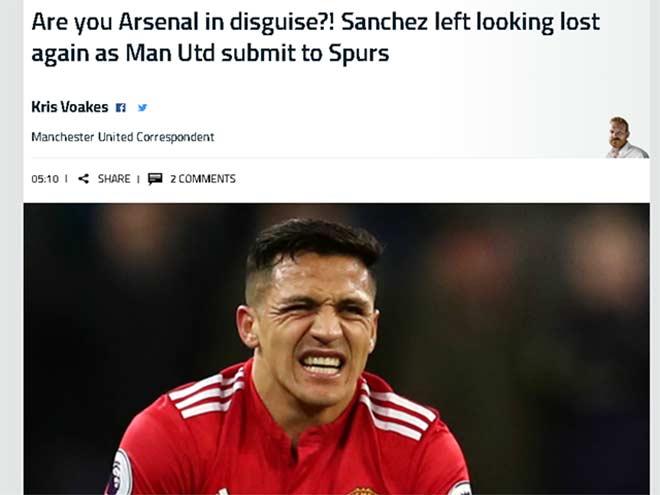 """MU thua, báo chí cười nhạo Mourinho, nghi Sanchez là """"gian tế"""" - 3"""