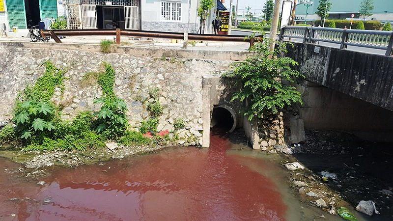 Kinh ngạc với màu nước kênh gần sân bay Tân Sơn Nhất - 2