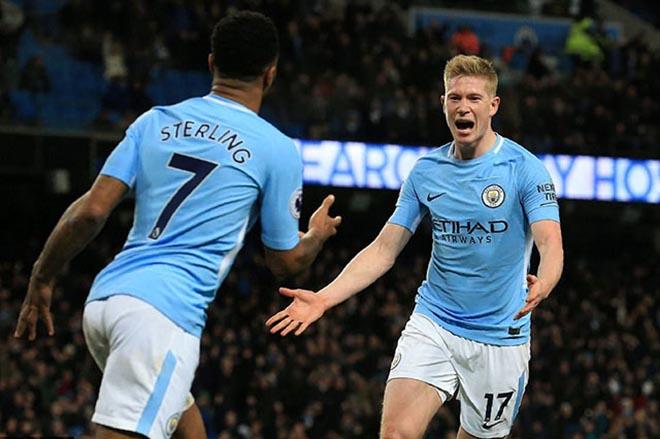 """Tổng hợp Ngoại hạng Anh vòng 25: Man City bứt phá, MU - Chelsea """"tan nát"""" - 1"""