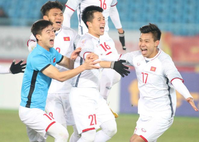 Vinh danh U23 VN ở Hải Dương: Văn Thanh tái hiện ăn mừng kinh điển - 3