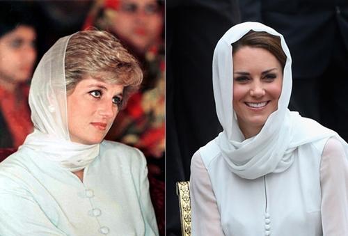 Công nương Kate ngày càng mặc giống mẹ chồng Diana - 1