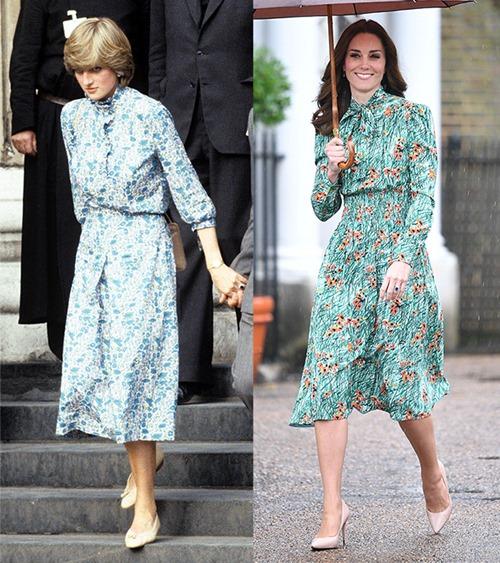 Công nương Kate ngày càng mặc giống mẹ chồng Diana - 7
