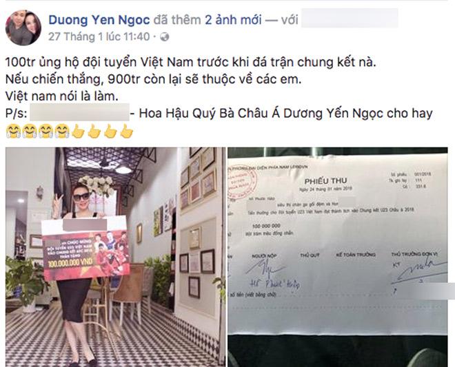 Lời hứa tặng U23 Việt Nam tiền tỷ của dàn sao giờ thế nào? - 1