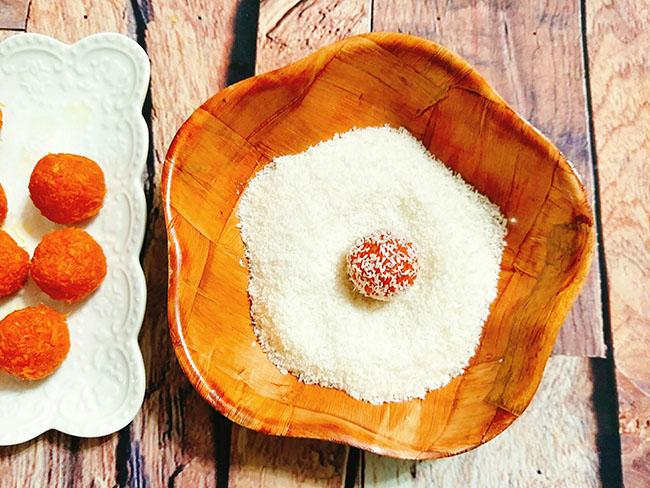 Mứt cà rốt bọc dừa xinh yêu ngọt ngào mọi người đều thích - 7