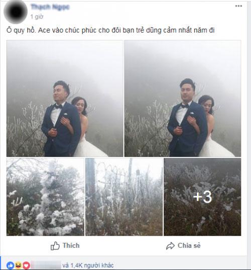 Cô dâu lưng trần chụp ảnh cưới dưới trời băng tuyết Sa Pa - 1