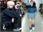 Đỏ mặt vì kiểu quần tụt đến mắt cá chân của ca sĩ Hàn