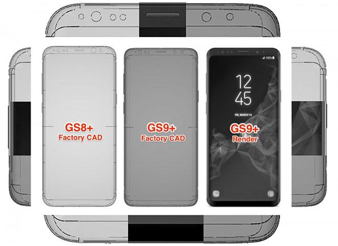 Samsung Galaxy S9 và S9+ lộ cận hết tham mạng - 1