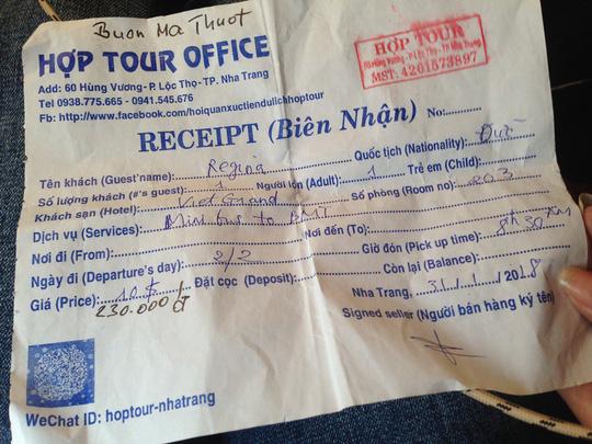 Vụ trả tiền thay cho khách nước ngoài: Đổ lỗi cho du khách - 1