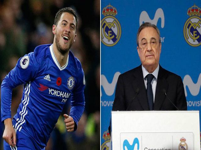 """""""Ông trùm"""" Perez tung chiêu cuỗm Hazard: Trao đổi SAO 500 triệu euro"""