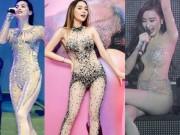 Đồ diễn màu nude, bó sát cơ thể dễ gây hiểu lầm của sao Việt