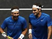 """Mãn nhãn tennis: Federer, Nadal  """" lên đồng """"  tung đòn hiểm hơn phim"""