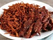Ẩm thực - Cách làm thịt heo khô ngon không cưỡng nổi cho ngày Tết