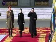 Lần đầu tiên vợ ông Kim Jong-un xuất hiện trong lễ duyệt binh
