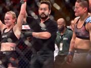 """UFC: Thấy phụ nữ nguy hiểm tính mạng không cứu, trọng tài nhận  """" mưa đòn """""""
