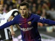""""""" Bom tấn """"  Coutinho ghi bàn ra mắt, Barca thăng hoa đón kỷ lục mới"""
