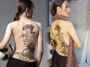 Người đẹp xứ Nghệ mặc áo vẽ cổ vũ tiền vệ Mesut Ozil
