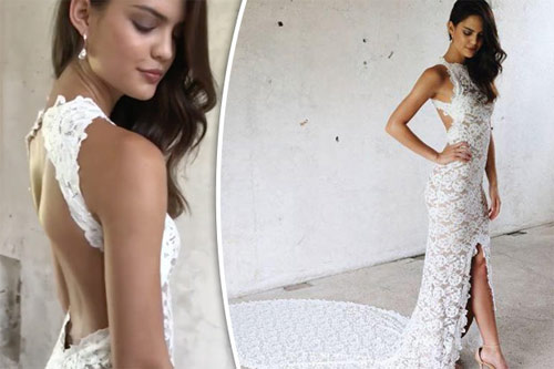 Ngã ngửa vì những cô dâu mặc váy cưới như ở trần - 5