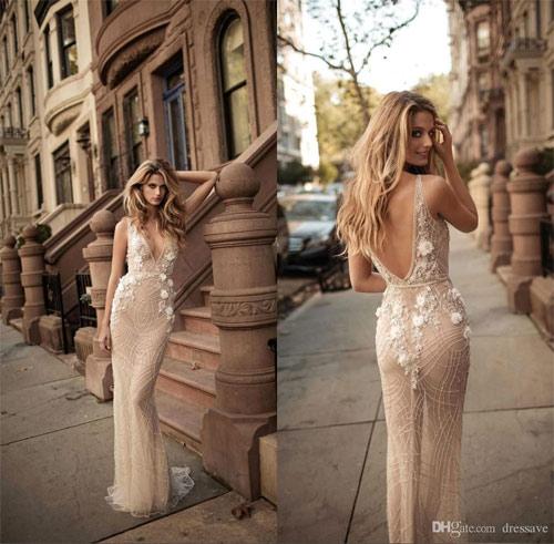 Ngã ngửa vì những cô dâu mặc váy cưới như ở trần - 15