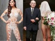 Ngã ngửa vì những cô dâu mặc váy cưới như ở trần