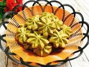 Ẩm thực - Đãi khách tới nhà với bánh quy trà xanh giòn xốp, thơm lừng hương matcha