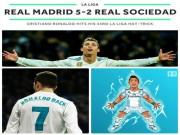 """Bóng đá - Hoàng đế Ronaldo: Bùng nổ """"siêu hat-trick"""", La Liga quỳ rạp"""