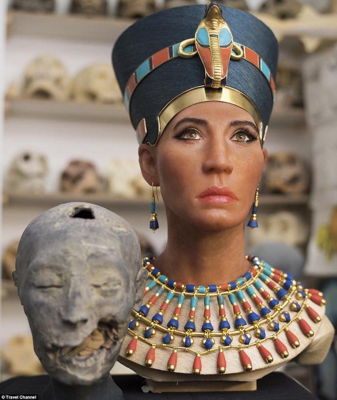 nu hoang ai cap 1518327850 24 width660height784 Công nghệ quét 3D tái hiện thành công gương mặt nữ hoàng Nefertiti