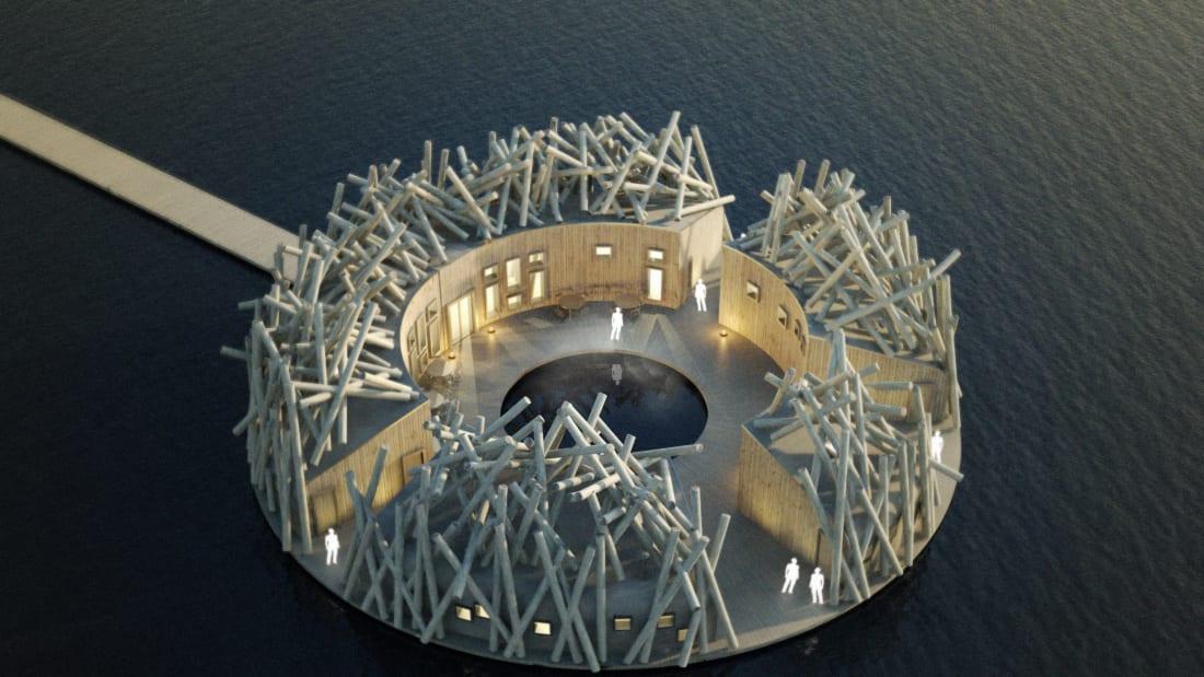 Ngắm kiến trúc độc lạ của khách sạn nổi giữa dòng sông ở Thụy Điển - 5