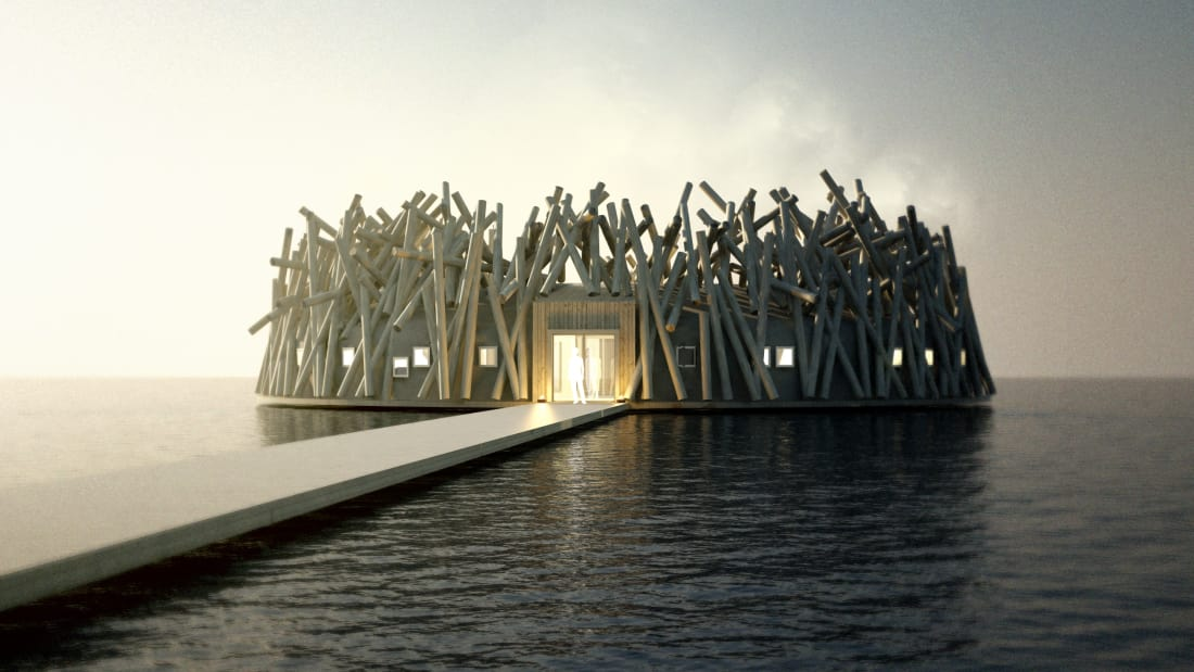 Ngắm kiến trúc độc lạ của khách sạn nổi giữa dòng sông ở Thụy Điển - 3