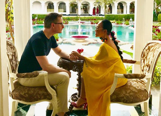 Vợ chồng Đoan Trang đón lễ tình nhân xa hoa tại Ấn Độ - 3