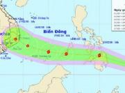 Bão Sanba đang di chuyển nhanh vào Biển Đông