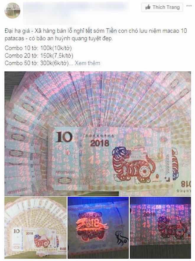 Rao bán tiền lưu niệm in hình chó trên Facebook - 7