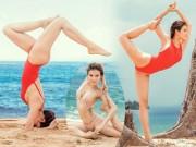 Mỹ nữ Việt có vòng ba 95 cm thử thách mọi độ khó của yoga
