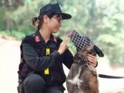Nữ cảnh sát xinh đẹp tiết lộ bí quyết huấn luyện chó nghiệp vụ