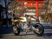 Ducati Scrambler hóa  núi vàng  di động