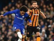 """Chelsea - Hull: Hiệp 1 đỉnh cao, chân  """" gỗ """"  hóa  """" vàng """""""