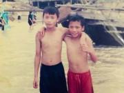 Hình ảnh tuổi thơ cực đáng yêu của anh em thủ môn Bùi Tiến Dũng